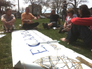 ECAWAR May information picket and meeting.
